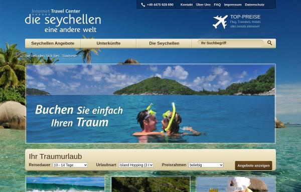Vorschau von www.reisen-seychellen.net, Internet Travel Center GmbH