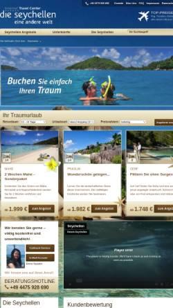 Vorschau der mobilen Webseite www.reisen-seychellen.net, Internet Travel Center GmbH