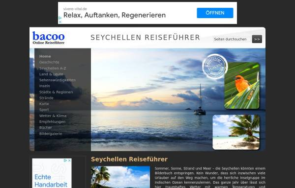 Vorschau von www.seychellen-guide.de, Seychellen Reiseführer