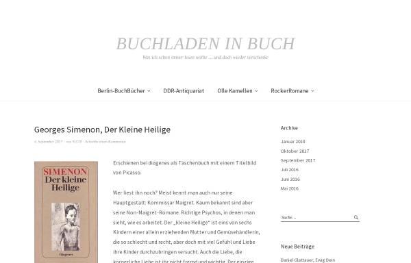 Vorschau von buchladen-in-buch.de, Buchladen in Buch
