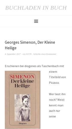 Vorschau der mobilen Webseite buchladen-in-buch.de, Buchladen in Buch