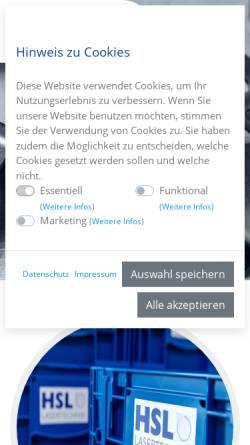 Vorschau der mobilen Webseite www.hsl-lasercut.de, HSL Lasercut GmbH & Co. KG