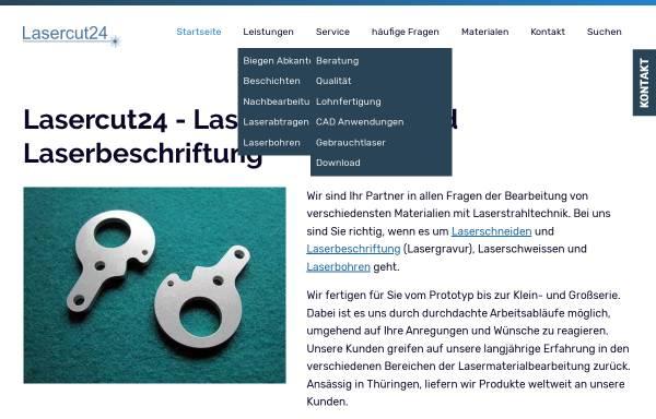 Vorschau von www.lasercut24.de, Lasercut24 - Thomas Frey