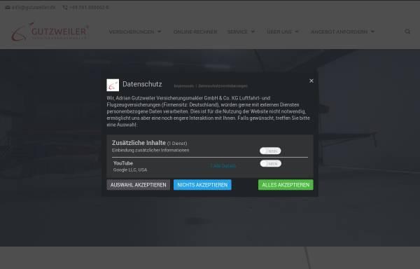 Vorschau von www.luftfahrtversicherung24.de, Adrian Gutzweiler Versicherungsmakler e.K.