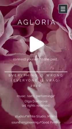 Vorschau der mobilen Webseite www.agloria.com, AGLORIA Finanzservice