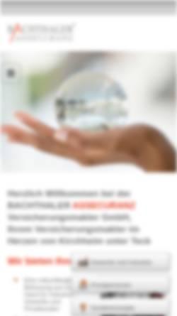 Vorschau der mobilen Webseite www.bachthaler.de, Bachthaler Assecuranz Versicherungsmakler GmbH