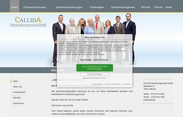 Vorschau von callida.de, Callida Versicherungsmakler GmbH