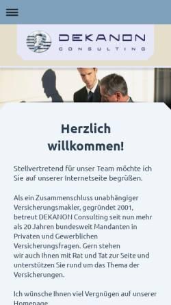 Vorschau der mobilen Webseite www.compact-makler.de, Compact Finanz- und Versicherungsmakler GmbH