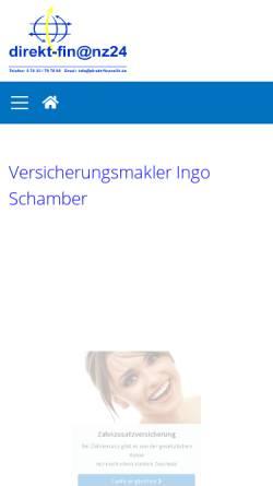 Vorschau der mobilen Webseite www.direkt-finanz24.de, Direkt-Fin@nz24 Versicherungsmakler GbR