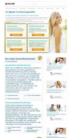 Vorschau der mobilen Webseite www.cecu.de, eprs GmbH - Financial Consulting