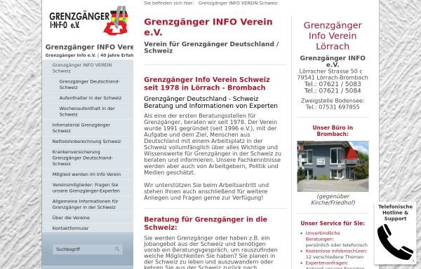 Vorschau von www.grenzgaenger.de, Grenzgänger Info e.V.