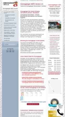 Vorschau der mobilen Webseite www.grenzgaenger.de, Grenzgänger Info e.V.