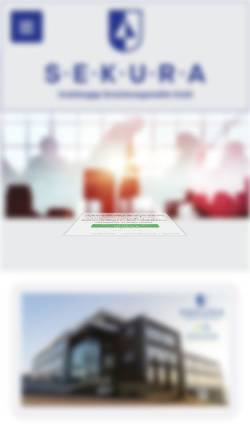 Vorschau der mobilen Webseite www.sekura-gmbh.de, Sekura Versicherungsmakler GmbH