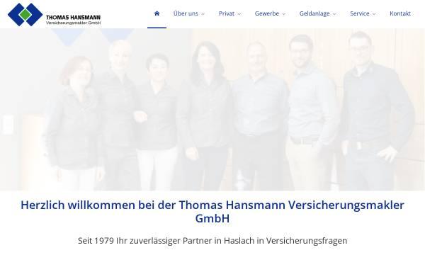 Vorschau von www.hansmann.de, Thomas Hansmann Versicherungsmakler GmbH