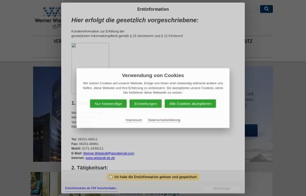Vorschau von www.wielandt.de, Werner Wielandt Wirtschaftsdienste