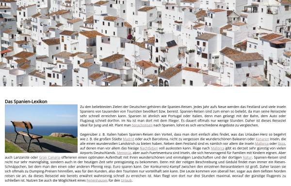 Vorschau von www.spanien-lexikon.de, Spanien Lexikon