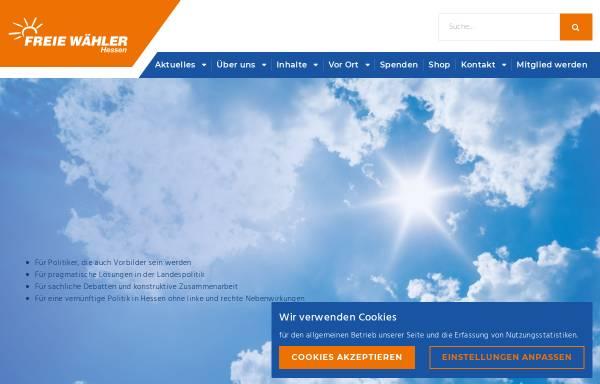Vorschau von www.freiewaehler-hessen.de, Freie Wähler Hessen