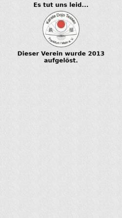 Vorschau der mobilen Webseite www.karate-tessen-frankfurt.de, Kartate-Dojo Tessen Frankfurt am Main