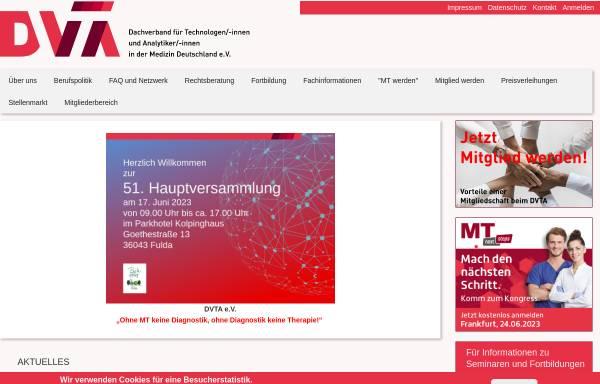 Vorschau von dvta.de, Deutscher Verband Technischer Assistentinnen/Assistenten in der Medizin