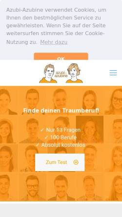 Vorschau der mobilen Webseite www.azubi-azubine.de, Azubi & Azubine