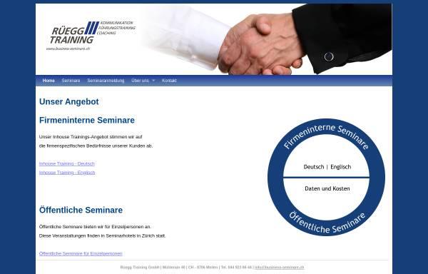Vorschau von www.business-seminare.ch, Rüegg-Training, Inh. Hans-Peter Rüegg