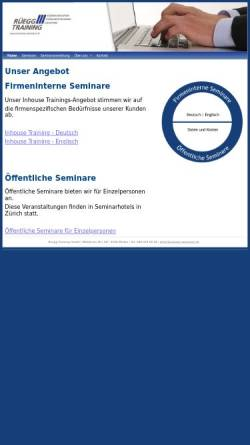 Vorschau der mobilen Webseite www.business-seminare.ch, Rüegg-Training, Inh. Hans-Peter Rüegg