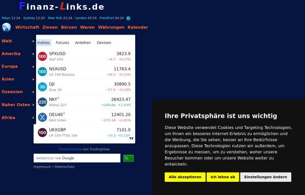 Vorschau von www.finanz-links.de, Finanz-Links Deutschland