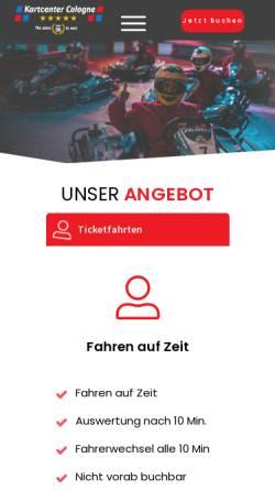 Vorschau der mobilen Webseite www.kartcenter-cologne.de, Kartcenter Cologne