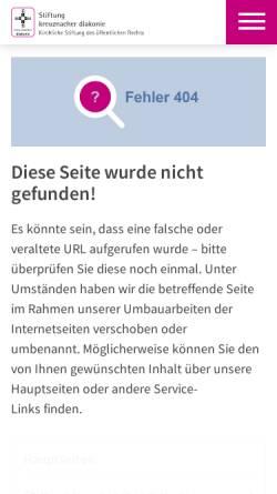 Vorschau der mobilen Webseite www.kantoreiarchiv.de, Archiv der Kreuznacher Diakonie-Kantorei