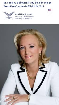 Vorschau der mobilen Webseite www.vestalia.ch, Vestalia Vision - Dr. phil. Sonja A. Buholzer