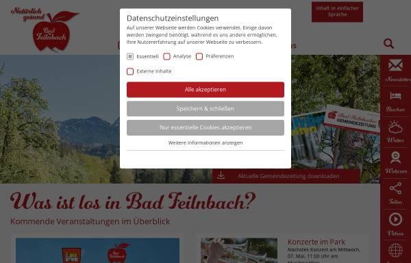 Vorschau von www.bad-feilnbach.de, Kur- und Gästeinformation