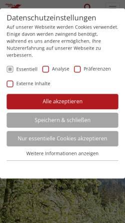 Vorschau der mobilen Webseite www.bad-feilnbach.de, Kur- und Gästeinformation