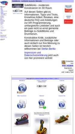 Vorschau der mobilen Webseite solidworks.cad.de, Inoffizielle deutsche SolidWorks Hilfeseite