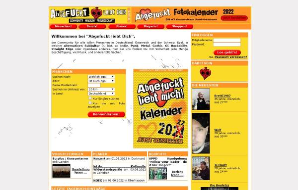 Vorschau von www.abgefuckt-liebt-dich.de, Abgefuckt liebt Dich