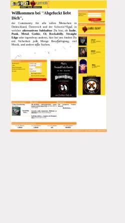 Vorschau der mobilen Webseite www.abgefuckt-liebt-dich.de, Abgefuckt liebt Dich