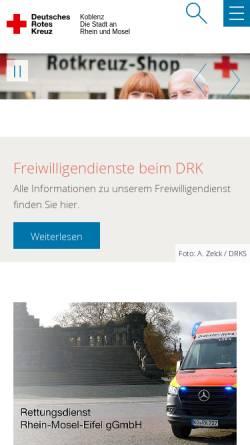 Vorschau der mobilen Webseite www.drk-koblenz.de, DRK Koblenz