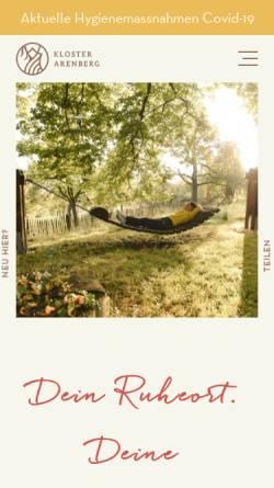 Vorschau der mobilen Webseite www.kloster-arenberg.de, Kloster Arenberg
