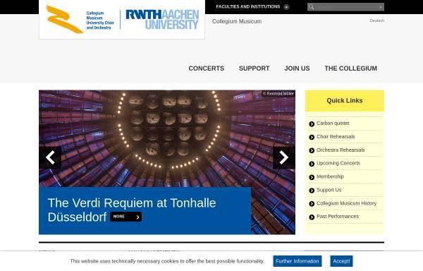 Vorschau von www.cm.rwth-aachen.de, Collegium Musicum der RWTH Aachen