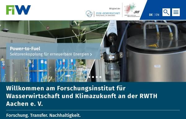 Vorschau von www.fiw.rwth-aachen.de, Forschungsinstitut für Wasser- und Abfallwirtschaft an der RWTH Aachen e.V.