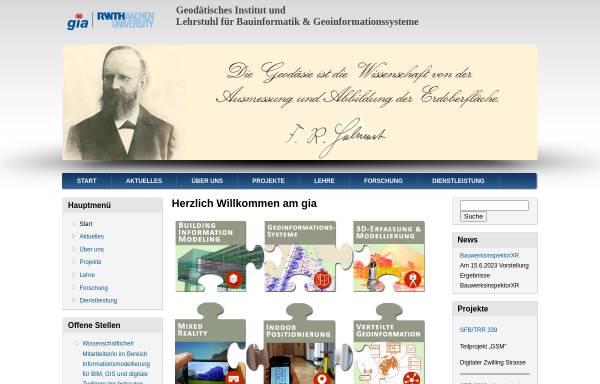Vorschau von www.gia.rwth-aachen.de, Geodätisches Institut der RWTH Aachen (GIA)