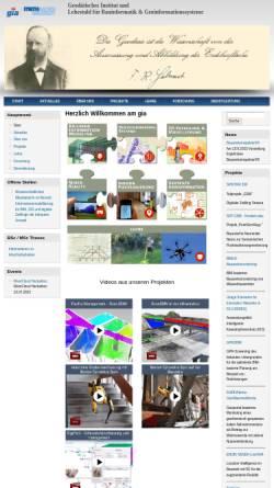 Vorschau der mobilen Webseite www.gia.rwth-aachen.de, Geodätisches Institut der RWTH Aachen (GIA)