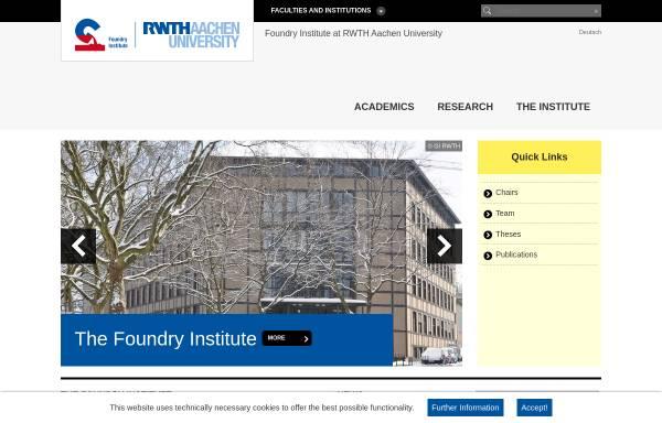 Vorschau von www.gi.rwth-aachen.de, Gießerei-Institut der RWTH Aachen