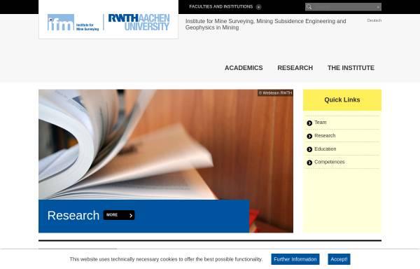 Vorschau von www.ifm.rwth-aachen.de, Institut fuer Markscheidewesen, Bergschadenkunde und Geophysik im Bergbau (IFM) der RWTH Aachen