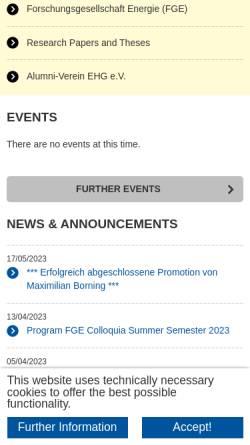 Vorschau der mobilen Webseite www.iaew.rwth-aachen.de, Institut für Elektrische Anlagen und Energiewirtschaft der RWTH Aachen