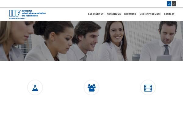 Vorschau von www.iif.rwth-aachen.de, Institut für Industriekommunikation und Fachmedien an der RWTH Aachen (IIF)