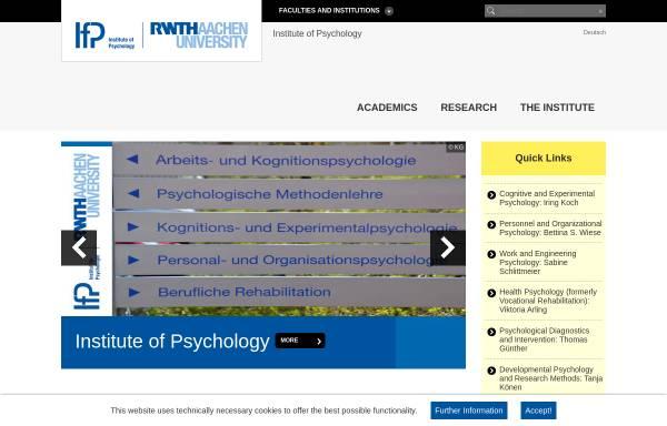 Vorschau von www.psych.rwth-aachen.de, Institut für Psychologie der RWTH Aachen