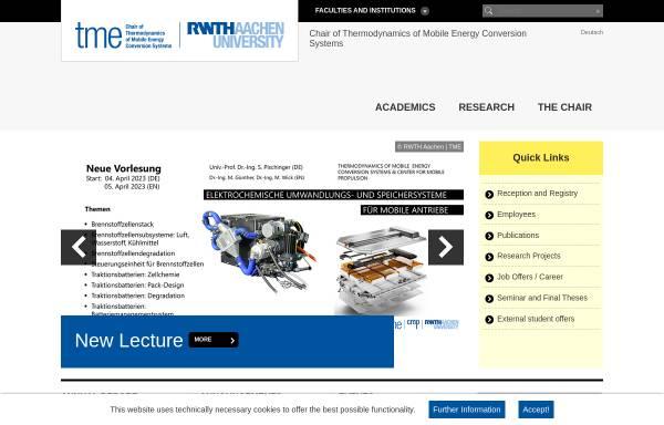 Vorschau von www.vka.rwth-aachen.de, Lehrstuhl für Verbrennungskraftmaschinen an der RWTH Aachen