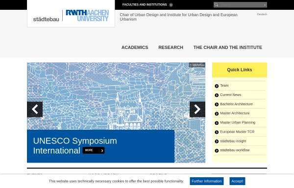 Vorschau von www.isl.rwth-aachen.de, Lehrstuhl und Institut für Städtebau und Landesplanung der RWTH Aachen