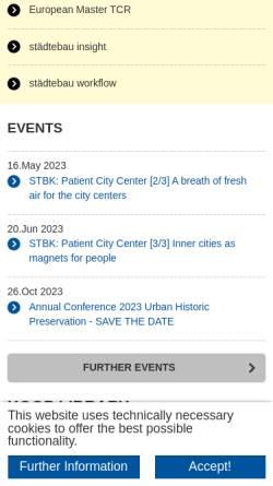 Vorschau der mobilen Webseite www.isl.rwth-aachen.de, Lehrstuhl und Institut für Städtebau und Landesplanung der RWTH Aachen
