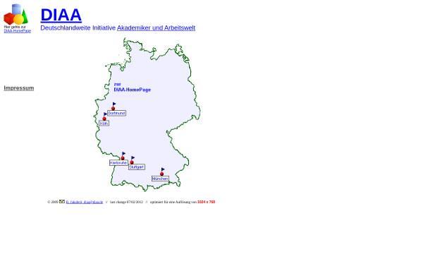 Vorschau von www.diaa.de, Dachverband der Initiativen Akademiker und Arbeitswelt [DIAA]